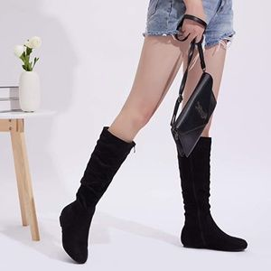 NWT 🌺 Vegan Suede Knee High Boots | Size 7